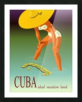 Big Girl over Cuba Picture Frame print