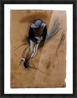 Jockey forward flexed standing in the saddle by Degas Picture Frame print