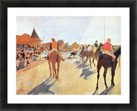 Jockeys in front of the grandstand by Degas Picture Frame print