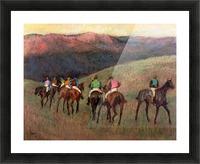 Jockeys in Training by Degas Picture Frame print