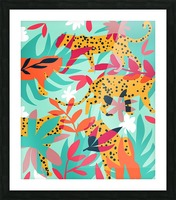 Chasing The Cheetah Picture Frame print