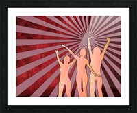 Dancing Girls Picture Frame print