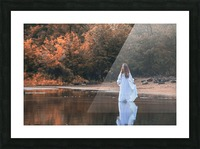 La dame du lac 2 Picture Frame print