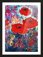 Poppies Picture Frame print