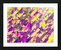 geometric square pixel pattern abstract background in pink purple green Picture Frame print