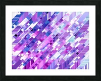geometric square pixel pattern abstract background in purple pink Picture Frame print