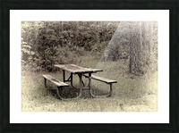 A_Lonely_Table Picture Frame print