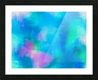 splash painting texture abstract background in blue and pink Picture Frame print