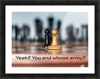 Chess battle Picture Frame print