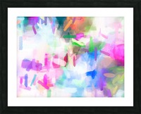 splash painting texture abstract background in pink blue green Picture Frame print