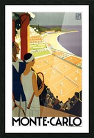 Tennis in Monte Carlo Picture Frame print