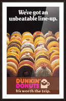 vintage dunkin donuts ad Picture Frame print