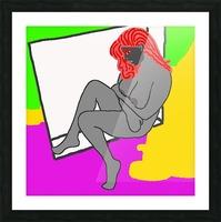 AI Woman Picture Frame print