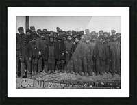 Coal Miners January 1911 Picture Frame print