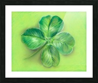 Lucky Four Leaf Clover Picture Frame print