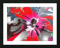 Pandemic Petunia Picture Frame print