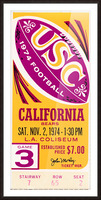 1974 usc california football ticket stub reproduction print Picture Frame print