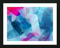 splash painting texture abstract background in blue pink Picture Frame print