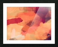splash painting texture abstract background in brown Picture Frame print