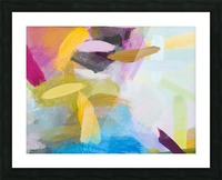 splash painting texture abstract background in yellow blue pink Picture Frame print
