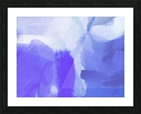 splash painting texture abstract background in blue and purple Picture Frame print