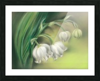 Lily of the Valley Flowers Picture Frame print