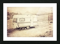 vintage travel trailer Picture Frame print