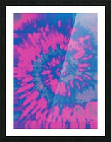Tie Dyed Picture Frame print