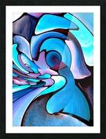 Twisted Splash of Blue Shapes  Picture Frame print
