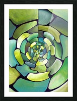Artdeco Centered Pattern  Picture Frame print