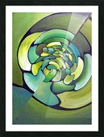 Artdeco Twisted Pattern  Picture Frame print
