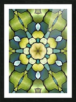 Artdeco biophilia Pattern  Picture Frame print