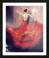 Dancer in Red  Picture Frame print