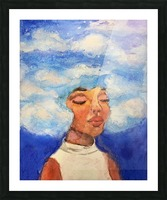 Head in the Clouds Picture Frame print