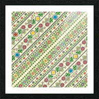 Hungarian seamless pattern  Picture Frame print