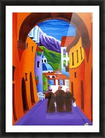Afternoon In Assisi Picture Frame print