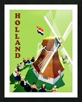 Holland Windmill Picture Frame print