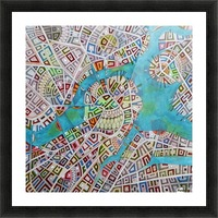imaginary map of Boston Picture Frame print