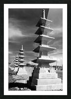 Vanishing Towers of Wutai Shan Picture Frame print