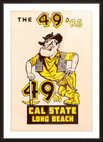 1965 cal state long beach 49ers art  Picture Frame print
