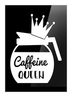 Caffeine Queen Picture Frame print