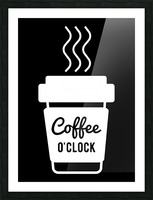 Coffee O clock Picture Frame print