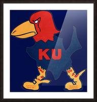 1929 Kansas Jayhawk Art Picture Frame print