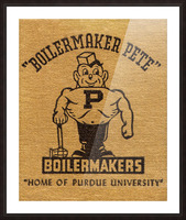 1950s Purdue University Boilermaker Pete Art Picture Frame print