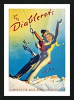 Skiing on Les Diablerets Picture Frame print