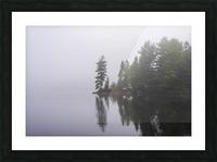 Koshlong Lake Fog Picture Frame print