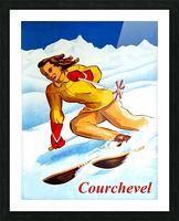 Skiing in Courchevel Picture Frame print
