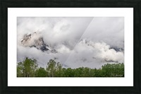 Billowy Clouds Surround Rundle Mountain Picture Frame print