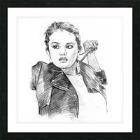 Selena Gomez - Celebrity Pencil Art Picture Frame print