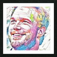Chris Pratt - Celebrity Abstract Art Picture Frame print